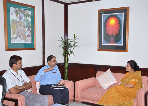 DG PPAC in discussions with Additional Secretary MoPNG and Joint Secretary Refineries MoPNG Photo Gallery