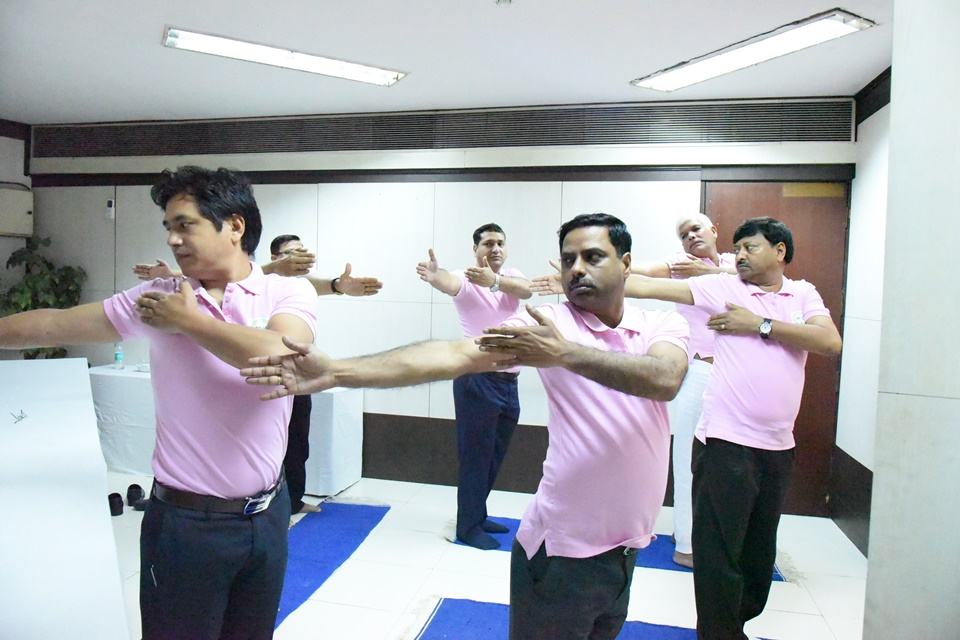 Common Yoga Protocol practice by employees of PPAC फोटो गैलरी